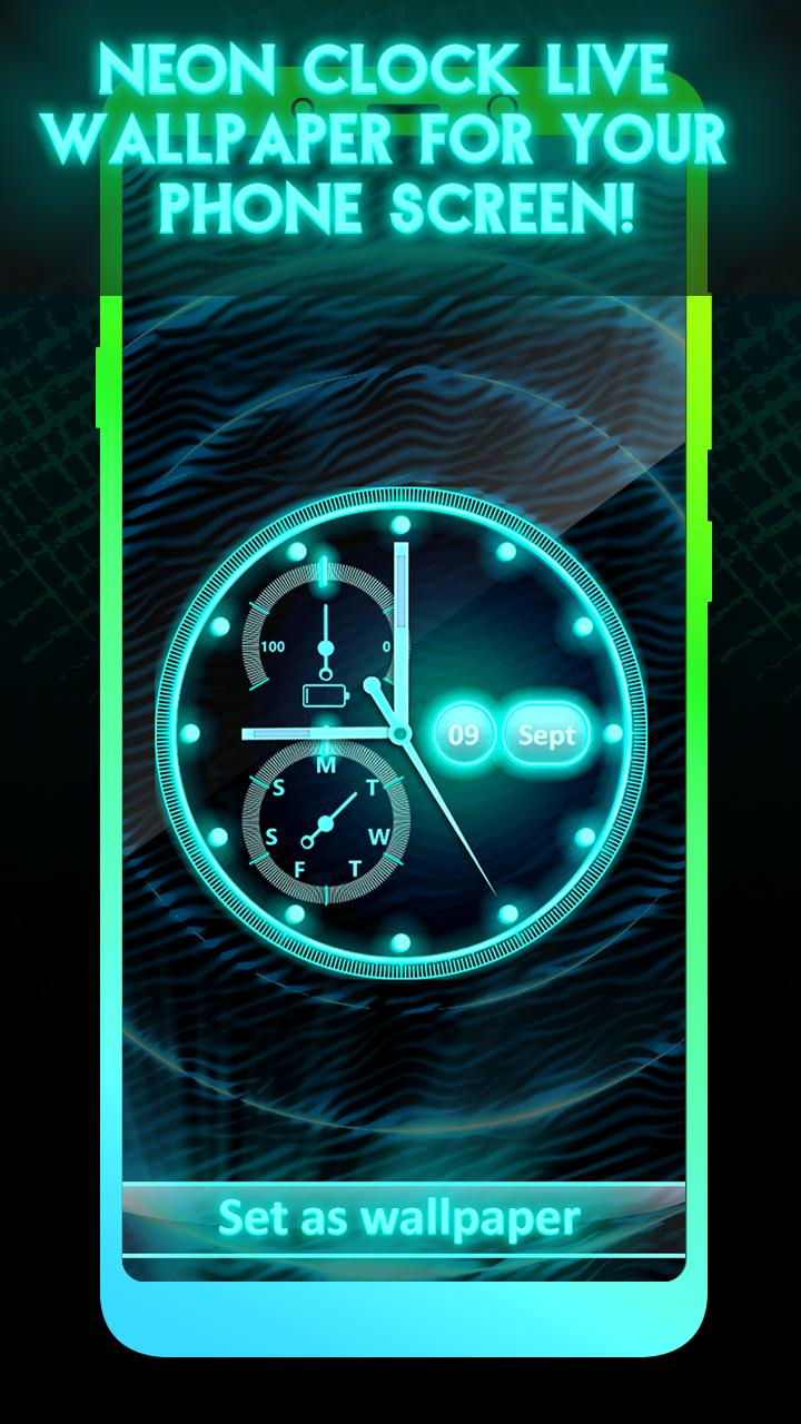 Neon Clock Live Wallpaper App For Android Apk Download