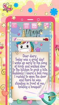 Rainbow Unicorn Secret Diary with Lock screenshot 4