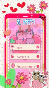 Rainbow Unicorn Secret Diary with Lock screenshot 7