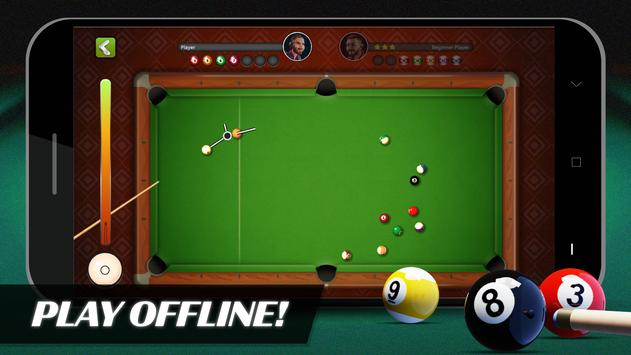 8 Ball Billiards- Offline Free Pool Game Affiche