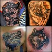 Wolf Tattoo Design icon