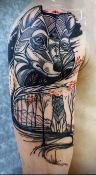 Wolf Tattoo Design screenshot 7