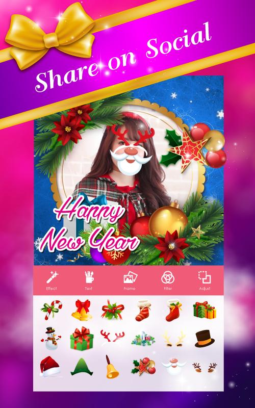 🎊 Happy New Year Photo Frame 2020 poster