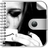 Sad and Lonely Emo Diary with Lock icon