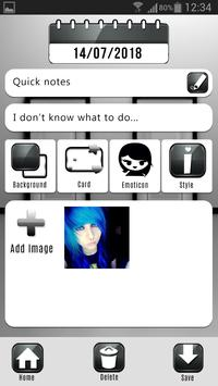 Sad and Lonely Emo Diary with Lock screenshot 4