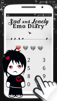 Sad and Lonely Emo Diary with Lock poster