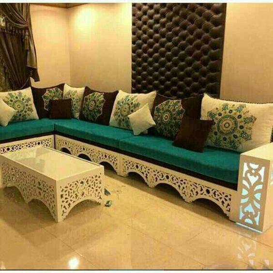 Adorable salon marocain - Moderne et traditionnel pour ...