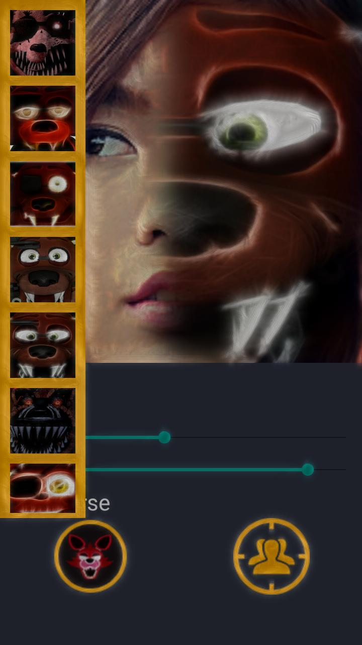Foxy five nights photo face editor for android apk download.