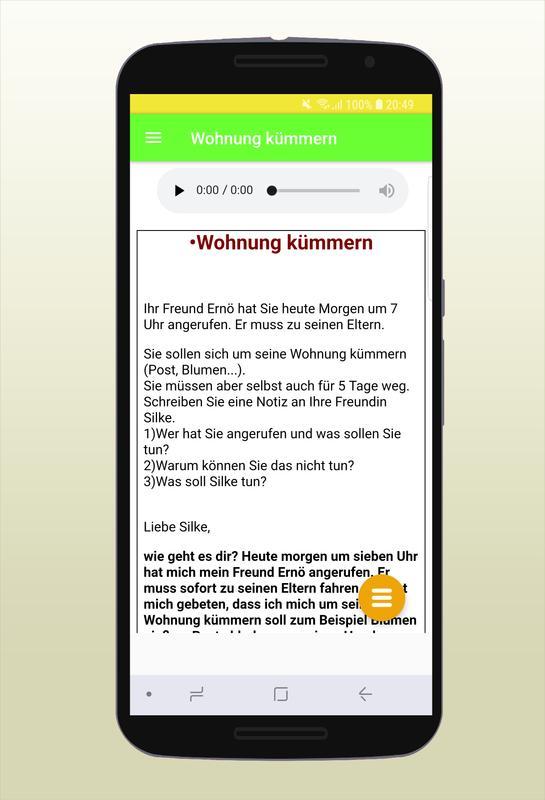 Brief Schreiben Zur Prüfung Deutsch B1 For Android Apk Download