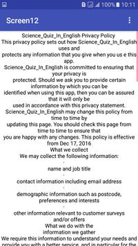 Science_Quiz_In_English screenshot 1