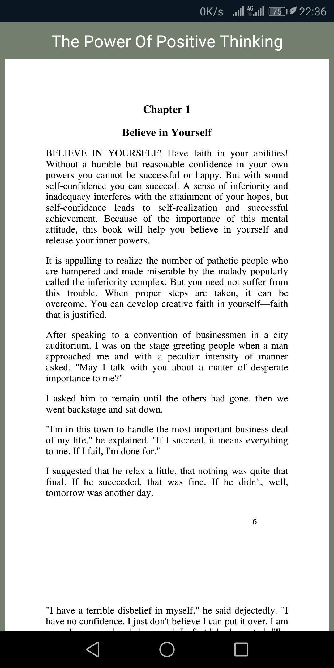 positive pdf the power of thinking book