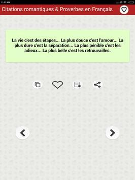 Citations romantiques & Proverbes en Français screenshot 12