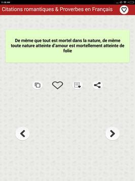 Citations romantiques & Proverbes en Français screenshot 13