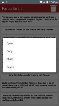Citations romantiques & Proverbes en Français screenshot 2