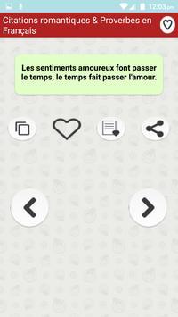 Citations romantiques & Proverbes en Français screenshot 4