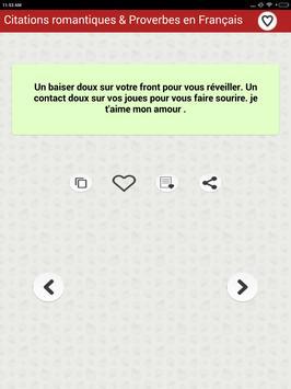 Citations romantiques & Proverbes en Français screenshot 8
