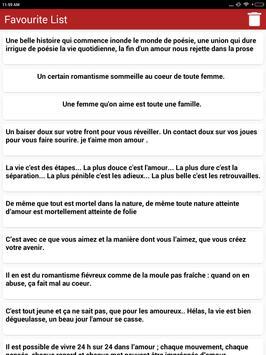 Citations romantiques & Proverbes en Français screenshot 9