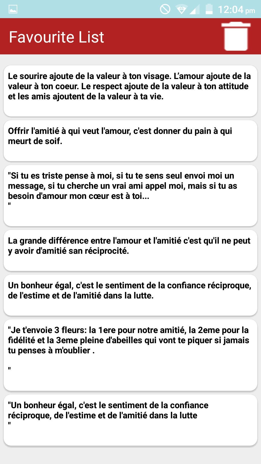 Citations Sur L Amitié French для андроид скачать Apk