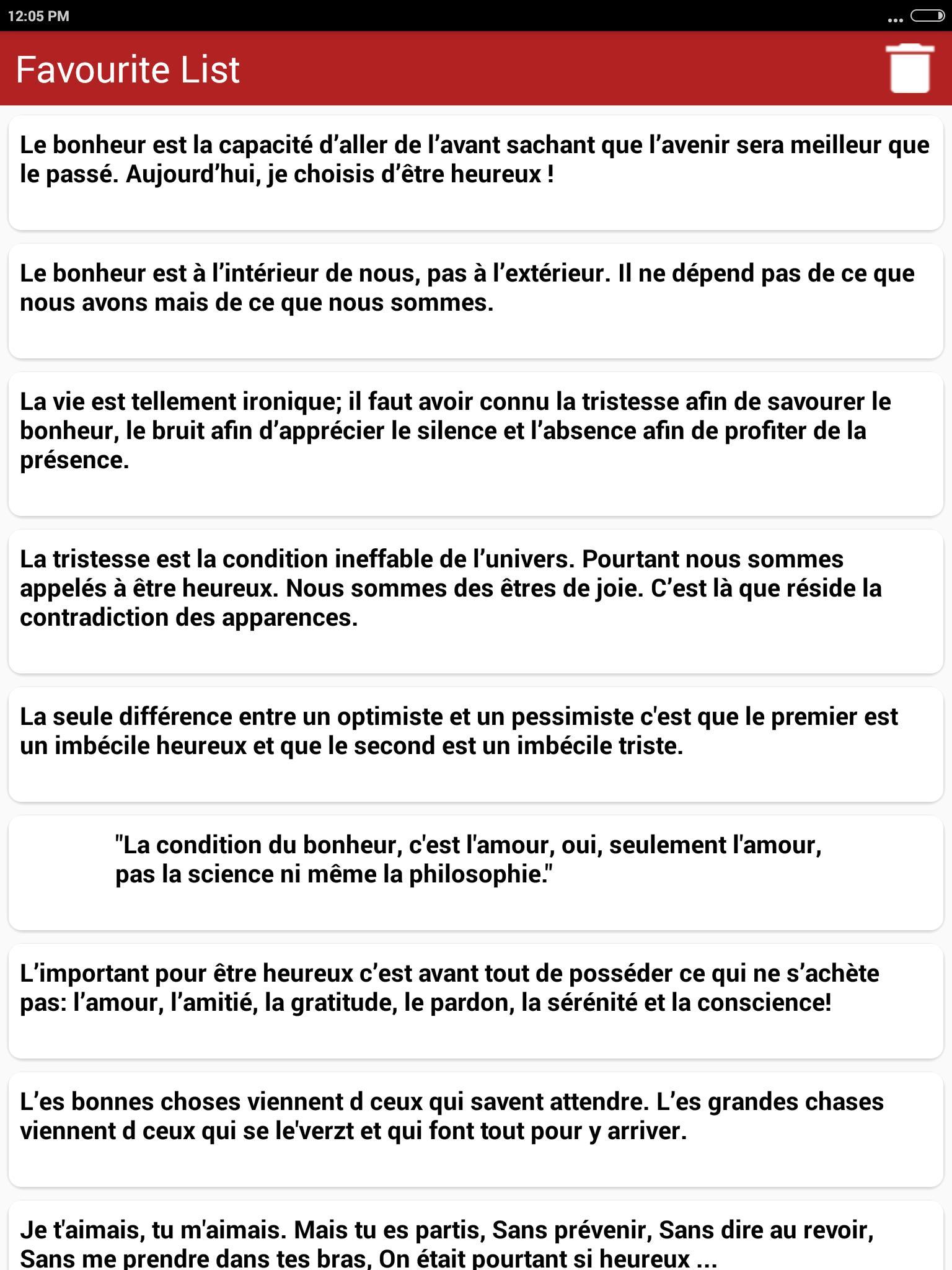 Citations Sur Bonheur Français For Android Apk Download