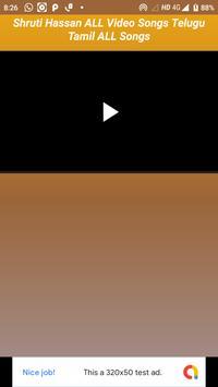 Shruti Hassan Video Song Telugu Tamil ALL Songs screenshot 3