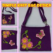 Simple Knit Bag Design icon