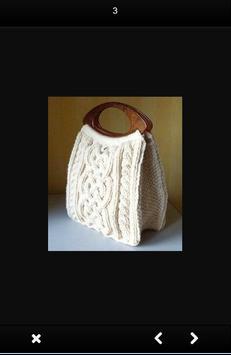 Simple Knit Bag Design screenshot 1