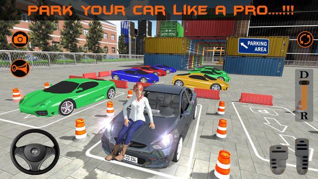 Realistic Car Parking 2019:Driving Test Simulator screenshot 2