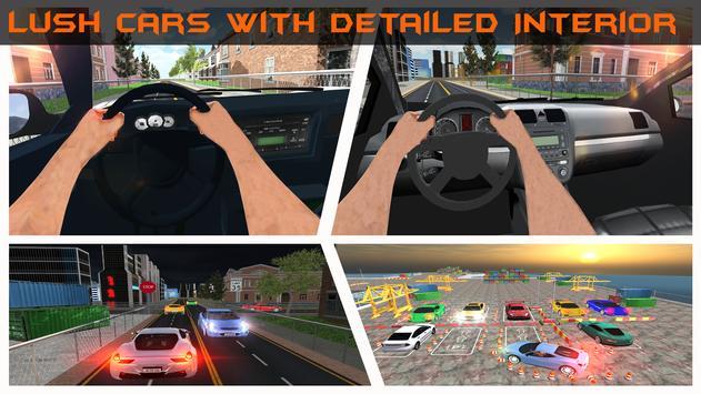Realistic Car Parking 2019:Driving Test Simulator screenshot 3