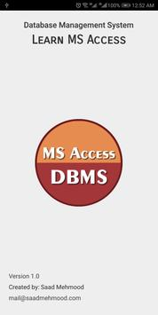Learn MS Access DBMS poster