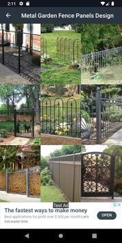 Metal Garden Fence Panels Design screenshot 1