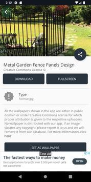 Metal Garden Fence Panels Design screenshot 2