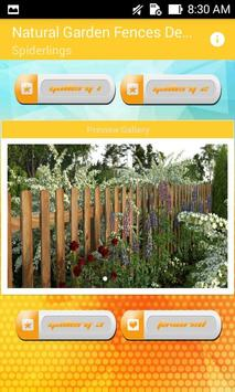 Natural Garden Fences Design poster