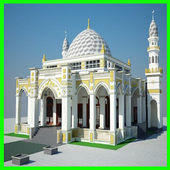 Two-Story Mosque Design icon