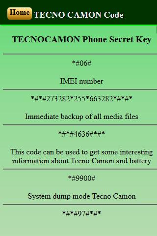 Mobiles Secret Codes Of Tecnocamon For Android Apk Download