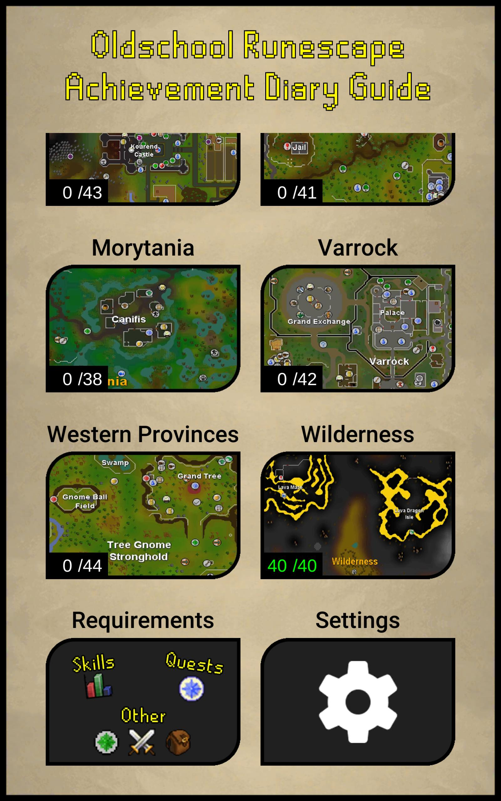 Osrs Achievement Diary Guide For Android Apk Download Elise's location to complete all of the tasks, players will need the stats shown in the infobox to the right. osrs achievement diary guide for