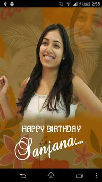Happy Birthday Sanjana 海报