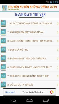 TRUYỆN XUYÊN KHÔNG OFFLINE 2019 screenshot 1
