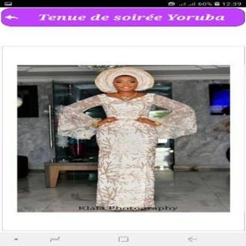 Tenue de soirée Yoruba screenshot 2
