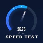 Teste de velocidade da internet:medidor velocidade ícone