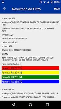 Tabela de preços MGM screenshot 2