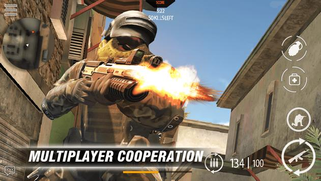 Call of modern FPS: war commando FPS Game poster
