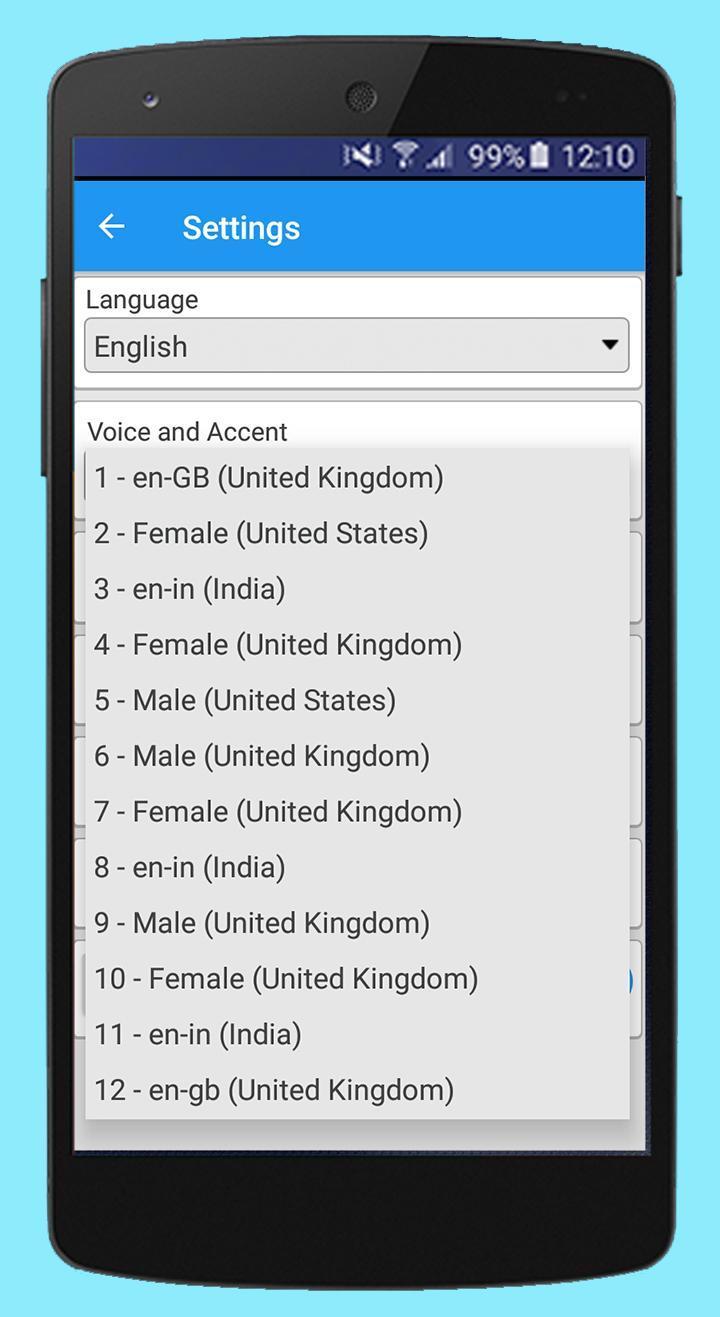 Text Voice Pro Text-to-speech and Audio PDF Reader para Android - APK Baixar
