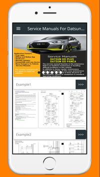 Service Manuals For Datsun Go poster