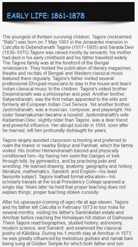 Rabindranath Tagore Biography ENGLISH screenshot 6