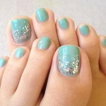 Toe nail design poster
