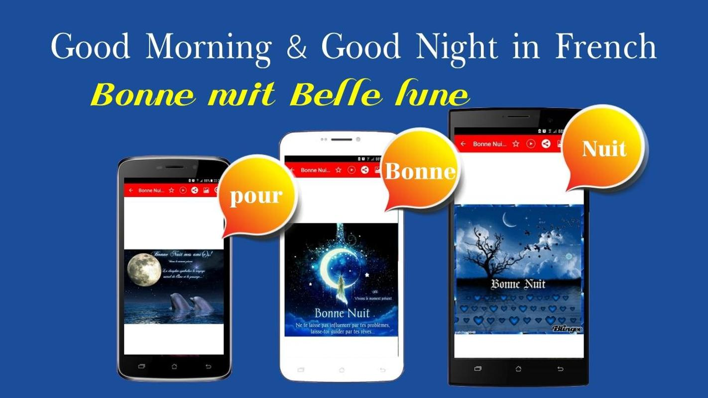 French Good Morning Good Night Wishes Love For Android Apk Download