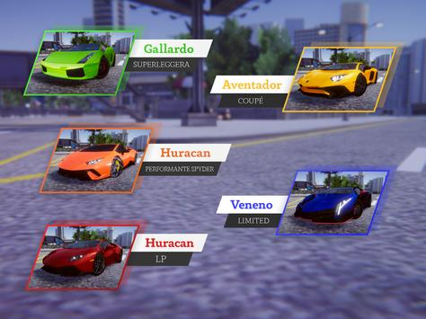 Lamborghini Car Racing Simulator City screenshot 7