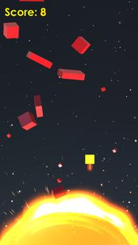 Space Dodge - Sun, Cube Game poster