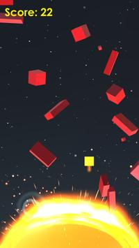 Space Dodge - Sun, Cube Game screenshot 1