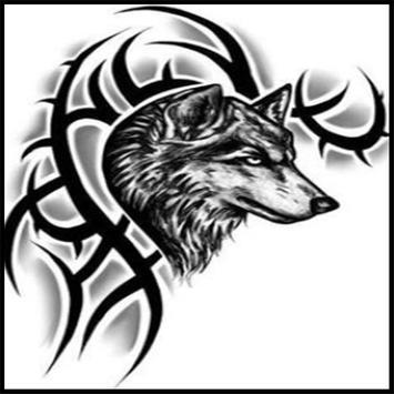 Tribal Wolf Tattoos Ideas screenshot 1